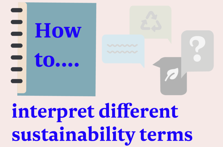 How to… interpret different sustainability terms